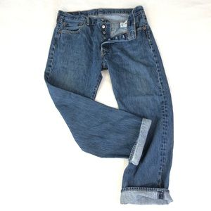 Levi's 501 button fly denim jeans size 34 X 29
